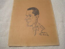 1944 WW2 Original Artwork by Lane / Fort Bliss Pencil Sketch #2