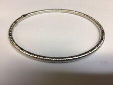 """14Kt White Gold Stackable Slip-on Hammered Textured Bangle/Bracelet 8"""" 2.8grams"""