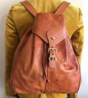 YOUNG CAMEL WOMEN'S BACKPACK WHISKY PEBBLE LEATHER DRAWSTRING HANDBAG