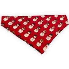 Christmas Dog Bandana Slip Slide On Collar Scarf Santa Reindeer Neckerchief