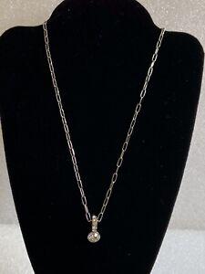 Dyrberg Kern Silver Tone Crystal Necklace