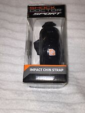 New Shock Doctor Sports Protection Chin Strap Black Small Medium.