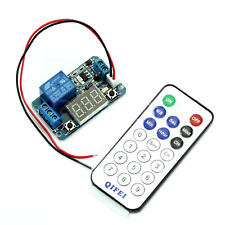 12V LED Digital Display Programmable Timer Relay Module + IR Remote Controller