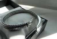 ✨EPIC WEIGHTY✨ 62g sterling silver 925 Byzantine smooth woven statement bracelet