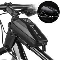 Bicycle Top Tube Bag Cycling Front Frame Phone Holder Waterproof Bag Case D4Z6