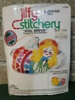 Jiffy Stitchery Angel Christmas Tree Ornament Sampler Kit 3D Embroidery New