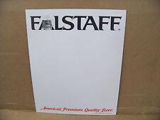 Falstaff Beer Advertising Poster, display sign, blank bar poster, make own sign