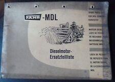 Fahr MDL mietitrebbia Dieselmotor-RICAMBIO elenco