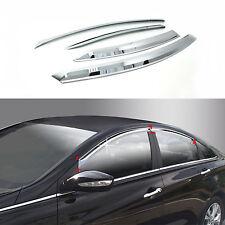 Chrome Sun Shade/Rain Guard Door/Window Vent Visor for 11+ Sonata