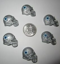 6 DALLAS COWBOY HELMET FLAT BACK RESINS *SHIPS FREE* *USA SELLER*