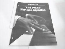 VINTAGE MUSICAL INSTRUMENT CATALOG #10355 - KUSTOM 88 PIANO KEYBOARD