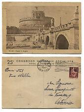 ROMA, CASTEL S. ANGELO, INTESTATA 25° CONGRESSO NAZ. SOCIALISTA, 1947     m
