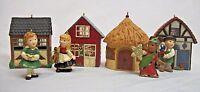 Hallmark set of 4 Germany Norway Joy to the World - Keepsake Christmas Ornament