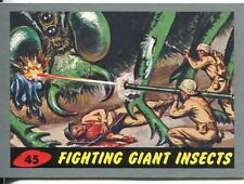 Mars Attacks Heritage Silver Parallel Base Card #45    Fighting Giant Insects