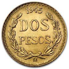 1919-1945 AU+ .900 Gold Mexican Dos Pesos - RANDOM YEARS - ROUND BULLION COIN