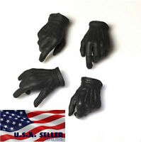 "1/6 Scale Black Gloved Hands For JOKER For 12"" PHICEN Hot Toys Male Figure ❶USA❶"