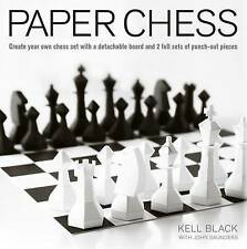 Paper Chess: Create Your Own Chess Set with a Detachable Board and 2 Full Sets o