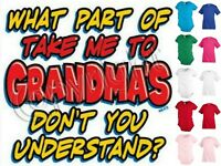 Grandma Grandmother Funny Kids T shirt Youth tee Baby Toddler bodysuit KP81