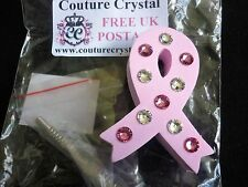 PINK BREAST CANCER RIBBON  CAR AERIAL TOPPER made with WITH SWAROVSKI CRYSTALS