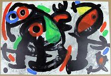 JOAN MIRO Lithograph 1970 Ronde de nuit (Nightwatch) Original Color French Art