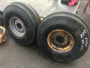 Ford 550 555 digger 8 stud front rims and tyres NVC 0159