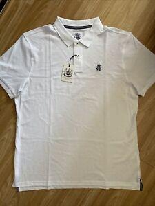 Hurlingham Polo 1875 New Men's Regular Fit White XL Polo Shirt RRP £60