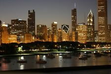 CHICAGO SKYLINE CITYSCAPE POSTER STYLE B 24x36 HI RES 9MIL PAPER