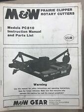 M&W Instruction & Parts Manual PC810 Rotary Cutter #4364R890 USED