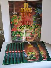 New Listing(10) Tmnt Ninja Turtles Coming Out Their Shells Tour Pizza Hut Menu And Poster