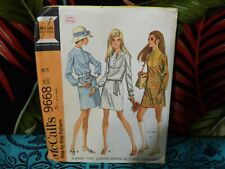 1969 McCall's Dress sewing pattern 9668 16/38 bust