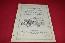 Massey Harris 235 234 Two Row Planter Parts Book Manual Yabe14