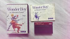 Wonder Boy in Monster paese per Sega Master System con imballo originale con istruzioni