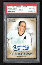 2014-15 ITG Heroes and Prospects Hero Autographs Gold #02 Bobby Hull Blackhawks