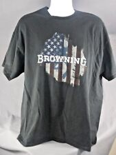 Browning Flag shirt Black 2XL mens american flag hunting deer fishing logo
