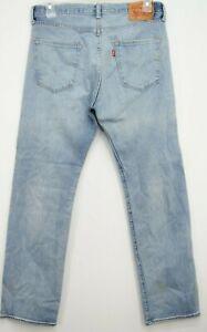 Levis Mens Original 501 2600 Stonewash Button Fly Straight Denim Jeans 33 x 32