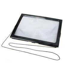 A4 Full Page Large Hands Free Magnifier Magnifying Glass Lens for Reading V6M6