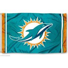 MIAMI DOLPHINS FLAG 3'X5' NFL TEAM LOGO BANNER: FREE SHIPPING