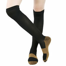 6 Pairs Copper Fit Energy Knee High Compression Socks, SM L/XL XXL Free Ship USA