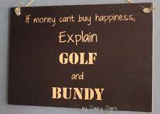 Golf Bundy Bundaberg Rum Sign - Clubs Golfing Bag Cart Tee Shoes Umbrella