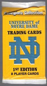 NOTRE DAME UNIVERSITY COLLEGE SPORTS PACK--POSSIBLY  A JOE MONTANA!!