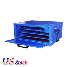 US - 800W Silk Screen Printing Drying Cabinet 4 Layers Warming Exposure Unit