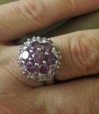 sterling silver 925 amethyst ring size 6.5 Mint condition Hallmarked China
