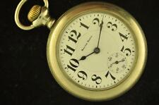 VINTAGE 16 SIZE SOUTH BEND 227 POCKETWATCH RUNNING