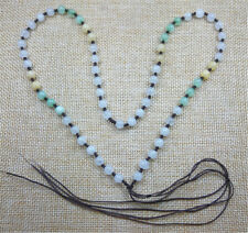 NEW 100% Natural Green Jade Jadeite Beads Make Necklaces 6.5MM