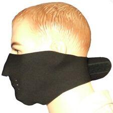 Black Neoprene Short Face Mask, Wind, Cold Protection, Ski, Walking, Outdoors