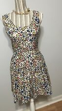 Lola Women's Multi-colored cut-out back pleated dress Size Small