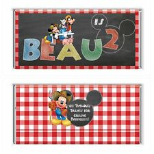Mickey Mouse Farm Chalkboard Personalised Chocolate Wrapper Gloss 4x6