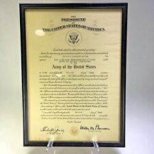 Reserve Commissioned Officer Certificate Second Lieutenant Us Army 1957 Framed