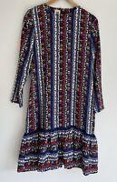 RESERVE VINTAGE amazing Print Long Sleeve Vintage Dress 10