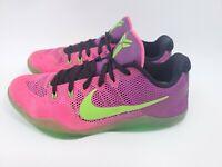 Nike Kobe XI 11 Elite Low Mambacurial Men's Size 8.5 Green Pink 836183-635